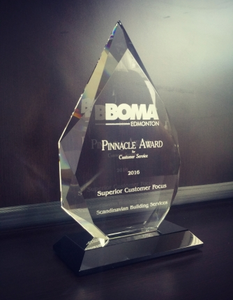 Scandinavian Building Services BOMA Edmonton 2016 Pinnacle Award for Customer Service