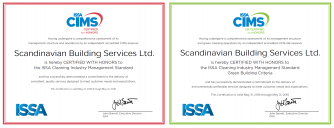 Scandinavian Building Services is CIMS Certified with Honors